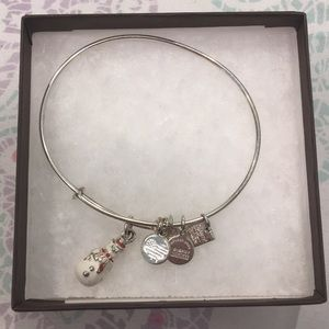 silver snowman bracelet